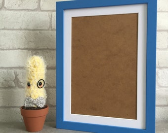 A4 Wooden Picture Frame in Blue
