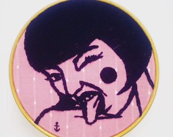 Stickbild STAY WILD, Wandbild, true vintage, be wild at heart, free, strong, 50er, Anker, Pin Up-Girl, freche Göre, Geburtstagsgeschenk