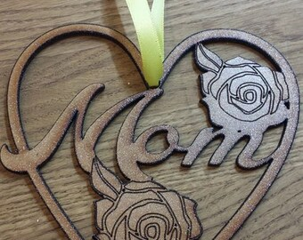 Mother's day wall plaque heart