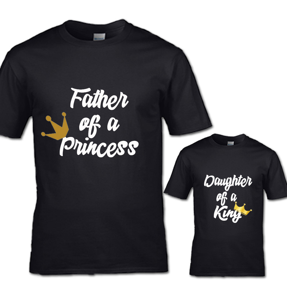 Design your own t shirt liverpool - Father Of A Princess And Daughter Of A King T Shirt Set Couples His And Her Family Teen Womans Mans Clothing