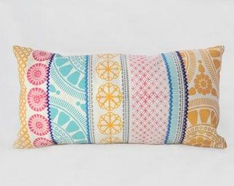Cushion - Hand  Screen Printed - Morrocan style  - Cushion Cover -Pillow- Throw Pillow - Decorative Pillow -  60x30cm -