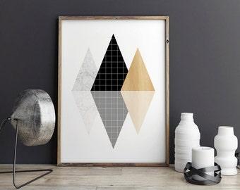 Modern Wall Art Decor most popular item | etsy