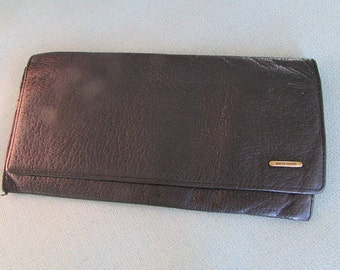 vintage 1980's PIERRE CARDIN Paris WALLET brown leather