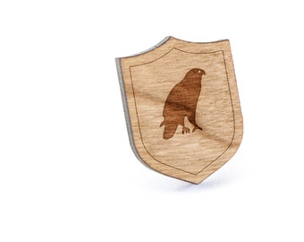 Hawk Lapel Pin, Wooden Pin, Wooden Lapel, Gift For Him or Her, Wedding Gifts, Groomsman Gifts, and Personalized