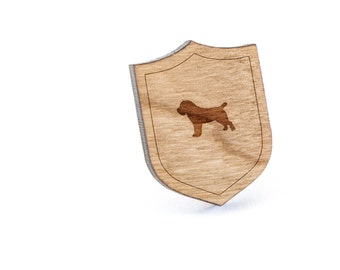 Russell Terrier Lapel Pin, Wooden Pin, Wooden Lapel, Gift For Him or Her, Wedding Gifts, Groomsman Gifts, and Personalized