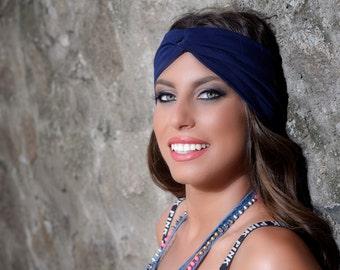 Turban Headband - Navy Blue