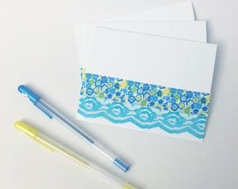 Sewn Lace & Ribbon Greeting Card Set