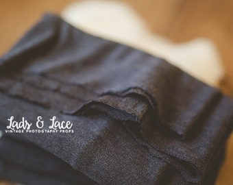 Charcoal Knit Stretch Wrap