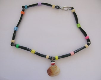 Stylish Black Silicon Necklace with Beads