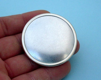 DIY, Pin, Brooch,Round Pin Setting Frame Mounting, silver tone, 305S