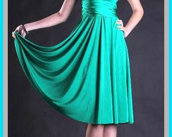 Green turquoise bridesmaids dress  Convertible/Infinity Dress
