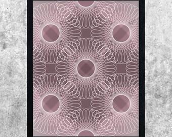 Geometric Art, Modern Printable, Pink Abstract Art, Digital Download, Wall Art Print, Home Decor, Instant Download, Minimalist Art, Line Art