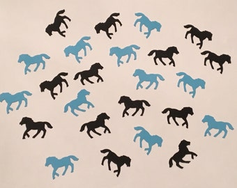 200 Blue and Black Pony Confetti Blue Horse Confetti Horse Party Pony Party Blue Confetti Birthday Confetti Horse Confetti Pony Birthday
