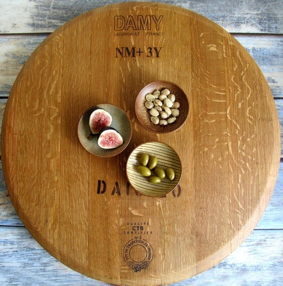 50 Farmhouse Style Gift Ideas From Etsy: Wood Lazy Susan Farmhouse Decor Rustic Country Wedding Gift
