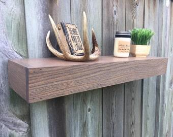 Handmade rustic wood floating shelves, reclaimed floating shelf, floating shelf, fireplace mantle, wall decor, book shelf