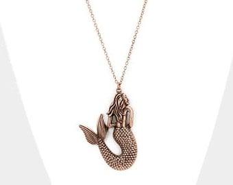 Mermaid pendant necklace, mermaid, necklace, beach jewelry, mermaid jewelry, nautical