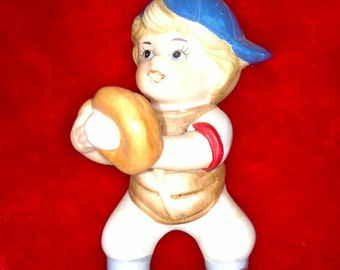 Vintage Baseball Player Figure