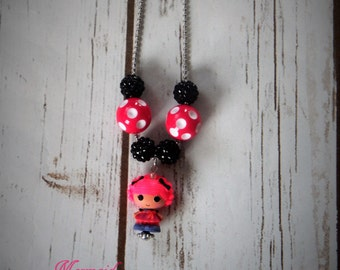 La La Loopsy Inspired Chunky Beaded Necklace bubblegum necklace psrty favor ball and chain