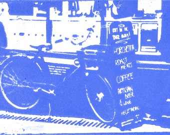 "Greetings Card- ""Cambridge Bicycle Blues"""