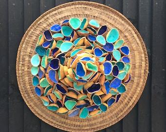Wave Crest,Blue,Circle,Crest,Wave,Dynamic,Hand Made,Modern,Wall Sculpture