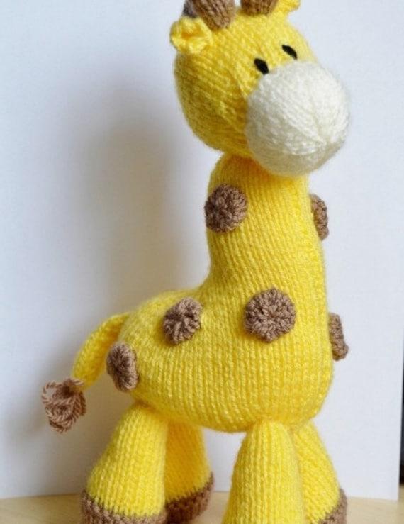 Knitting Pattern Toy Giraffe : Giraffe Knitting Pattern, Giraffe Knit Pattern, Giraffe Toy Knitting Pattern,...
