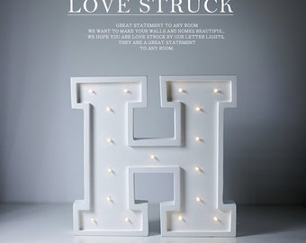 Wooden marquee letter light. Vintage wooden letter lamp. Any letter lights In Stock