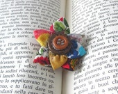 One of a Kind, Unique Jewelry, Wearable Art, Small Brooch, Flower Jewelry, Boho Glam, Original Jewelry, Funky, Fun, Abstract, Art Gift