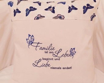 Embroidery/saying/life & love * in 3 sizes
