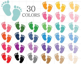 Baby footprint art | Etsy