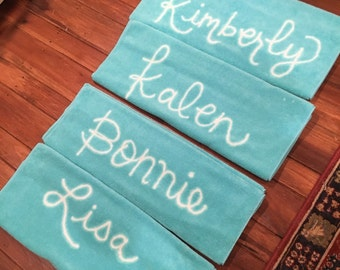 Personalized Bachelorette Party Gifts - Custom Beach Towels