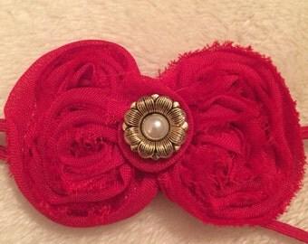 Shabby Chic Mini Bow Shabby and Chic bow headband
