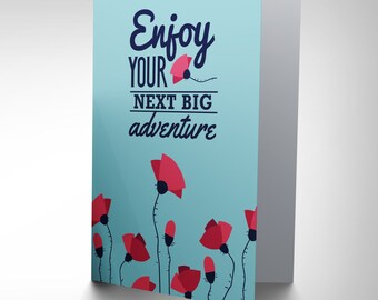 Travel Leaving Big Adventure New Art Greetings Gift Card Cp1970