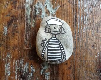 My painted stones: little sailor