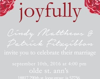 Floral Wedding Invitation and RSVP (Printable)
