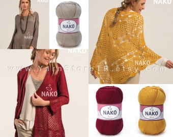 NEW 100% Premium Acrylic Yarn Knitting Crochetting by Nako Ibiza 100gr 350m, 33 Colors, Cardigan,Shawl,Waist,Pullover