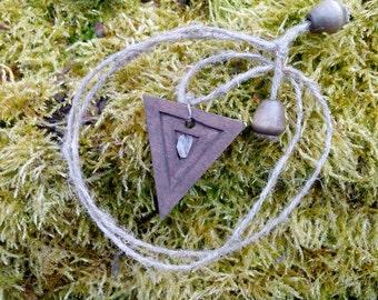 Triangle pendant.