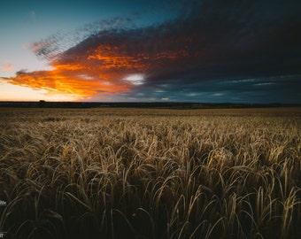 Fine Art Sunset Landscape Photography Print