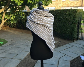 Outlander inspired chequered Shawl