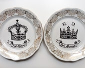 Duo of plates decorative collection
