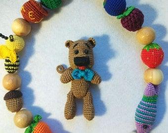 Nursing Necklace  teddy-bear - breastfeeding necklace