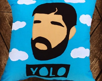 Drake Face Pillow