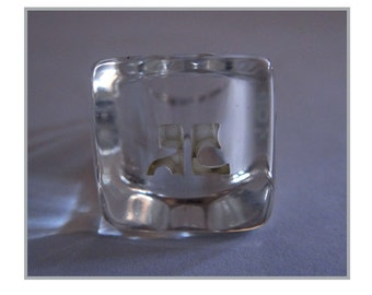 COURREGES Vintage Ice Ring / Courrèges ring ice - year 60 / 60