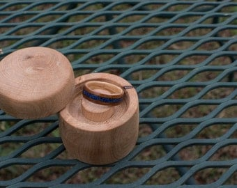 Walnut and Maple with Lapis Bentwood Ring