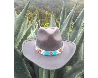 Sur Hat with Turquoise Beaded Band
