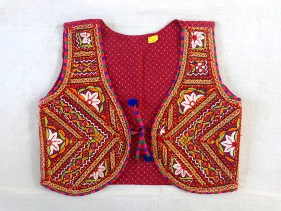 Banjara style kutch embroidered jacket cotton by
