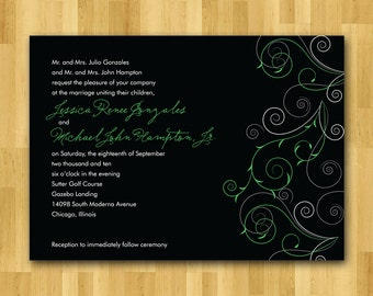 Wedding Invitations set, printed, handmade - Unity