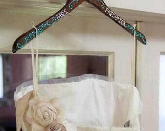 Custom Made Wooden Wedding Hanger