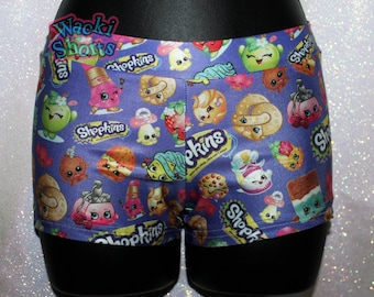 Cute Shopkins - Wacki Shorts  - Cheer, Gymnastics, Yoga, Dance