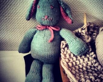 Plush rabbit in Merino
