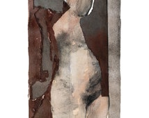 Giclee Art Print, Nude Art, Home Decor Wall Art,Abstract Print, Figurative Art,Female Nudity, Naked Woman Art, Art Drawing,Classic Art Print